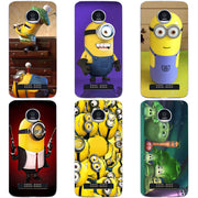 For Motorola Moto Z2 Play Phone Cases Cover 5.5 Inch Flower Little Yellow Man Print Coque For Moto Z2 Play