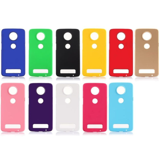 For Motorola Moto Z2 Play Z3 Play Slim Matte Hard Plastic Case Candy Color Frosted Anti-fingerprint PC Cover For Moto Z2 Plus