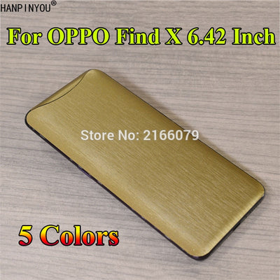 "For OPPO Find X 6.42"" Full Cover Back Brushed Metal Decal Skin Phone Protective Film Wire Drawing Sticker"