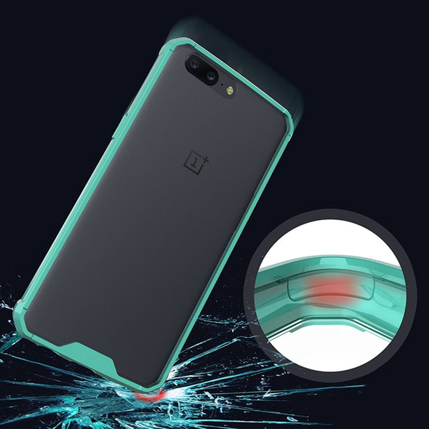 For Oneplus 5 Oneplus5 A5000 Slim Hybrid Shockproof Cover Transparent Housing Air Cushion Case Crystal Clear Back Shell Mask