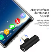For Oneplus 6T 1+6T USB Type C To 3.5mm Jack Headphone Adapter For Lenovo Z5 Pro USB-C Type-C AUX Audio Cable Earphone Converter