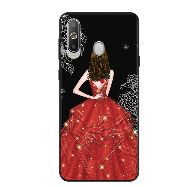 For Samsung A8S Case Black Frame Fashion Soft Silicone Back Cover For Samsung Galaxy A8S SM-G8870 A8 S A 8S Cute Phone Cases 6.4