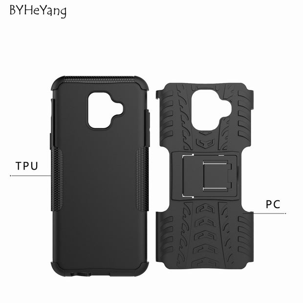 For Samsung Galaxy A6 2018 Case Tough Rugged Hybrid Heavy Duty Armor Cover For Galaxy A6 2018 Fundas For Samsung A6 2018 A600F