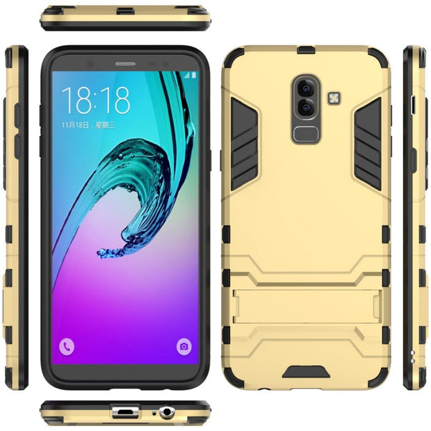 For Samsung Galaxy A6 Plus 2018 Case Luxury Rubber Hard Back Case For Samsung Galaxy J8 2018 Cover For Samsung J8 2018 Fundas