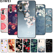 For Samsung Galaxy A8S Case SM-G8870 Landscape Flower Print Black Soft Silicone Phone Back Cover For Samsung A8s A8 S A 8S Cases