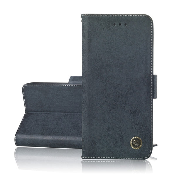 For Samsung Galaxy A9 2018 Phone Etui On For Fundas Samsung A7 2018 SM-A750 Luxury Vintage Flip Wallet Leather Stand Cover Coque