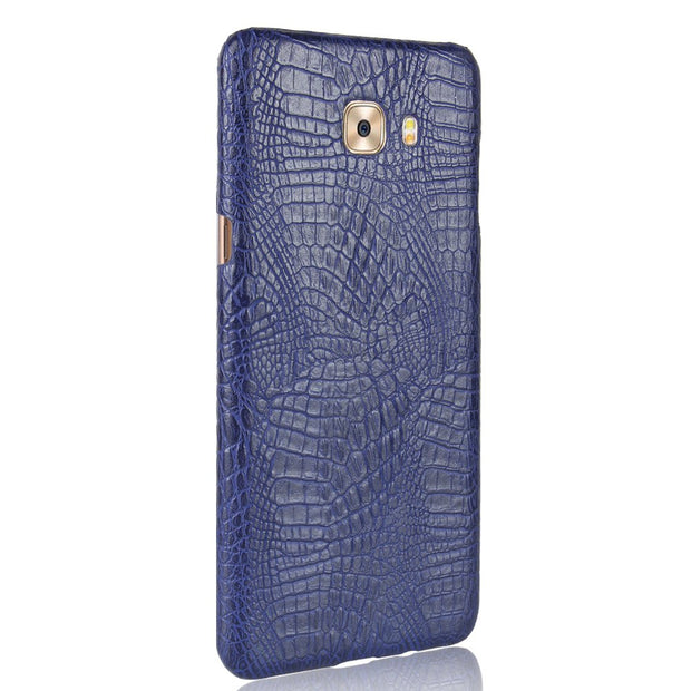 For Samsung Galaxy C5 C7 Pro C5pro C9pro Case Crocodile Pattern PU Leather Luxury Business Hard Phone Cover Coque Capa