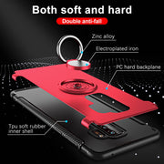 For Samsung Galaxy J3 Luxury Metal Ring Bracket Protect Case For Samsung J5 J7 2017 Hard PC+Soft Silicone Full Back Cover Case