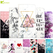 For Samsung Galaxy J4 2018 3D Marble Etui On For Fundas Samsung J4 J6 Plus J6 Prime Case Flip Wallet Leather Stand Cover Coque