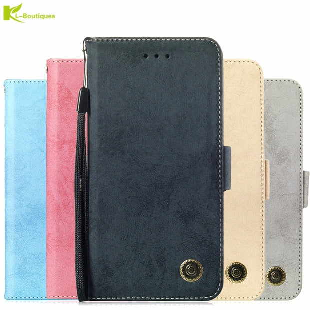 For Samsung Galaxy J4 Plus Phone Etui On For Fundas Samsung J6 Plus Prime Luxury Vintage Flip Wallet Leather Stand Cover Coque