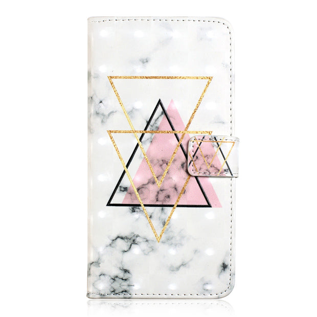 For Samsung Galaxy J5 2017 J530 3D Marble Etui On For Fundas Samsung J5 J7 2017 J730 Case Flip Wallet Leather Stand Cover Coque