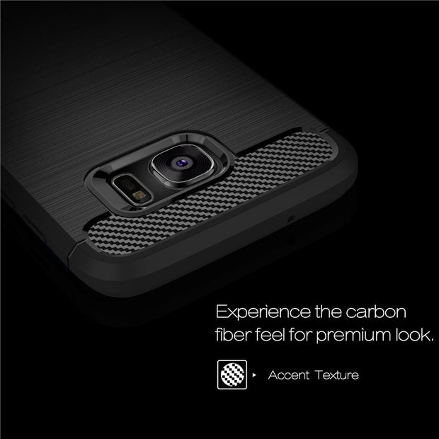 For Samsung Galaxy S7 Edge Case Luxury Shockproof Carbon Fiber Soft Anti-drop Back Cover Case For Samsung Galaxy S7 Capa