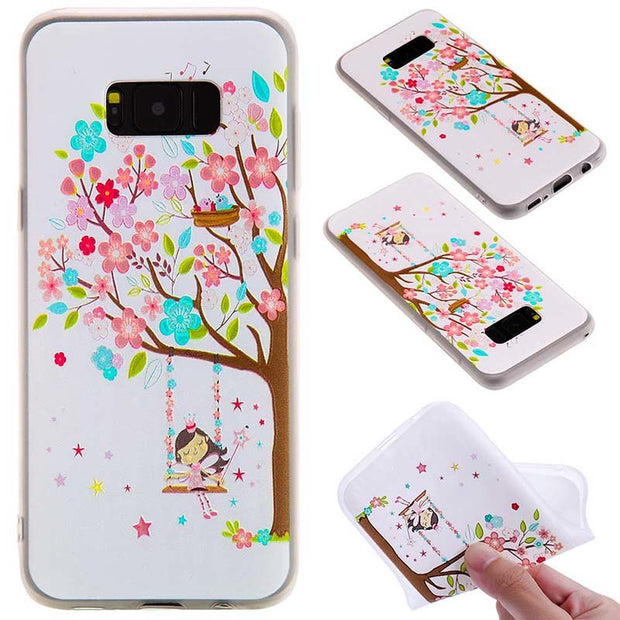 For Samsung Galaxy S8 Plus Silicone Frosted Matte Phone Case For Samsung Galaxy S7 Edge Coque Back Cover For Galaxy Note8 S9