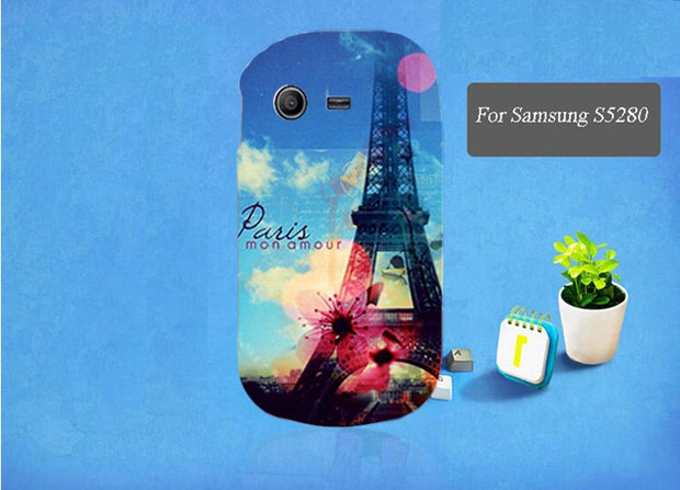For Samsung Galaxy Star S5282 S5280 Case Cute Cartoon Aimalse Eiffel Towers And Flowers Protective Back Skin Case Cover