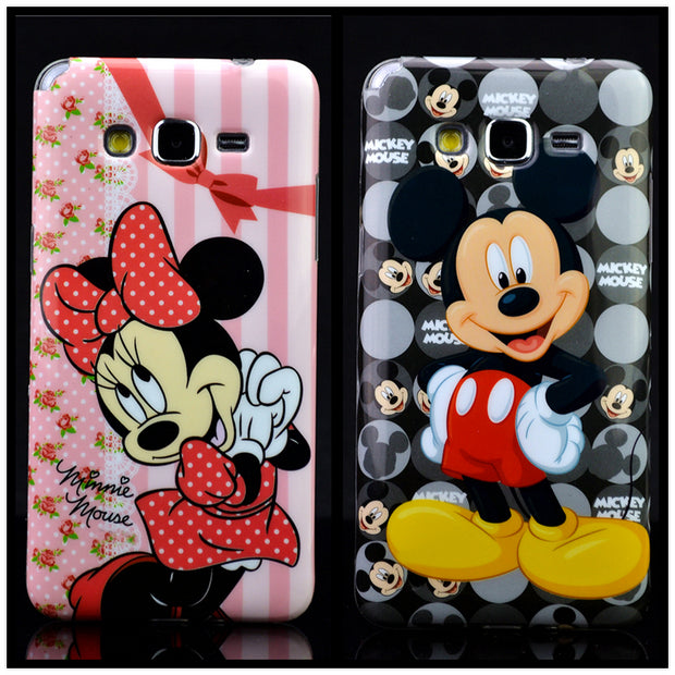 For Samsung J2 Prime G532F Case Minnie Mickey Star Wars Leopard Grain Soft TPU Phone Cover For Samsung Galaxy Grand Prime G530