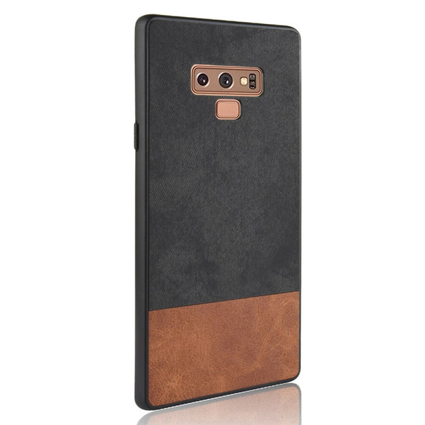For Samsung Note 9 Case Two Colors PC+TPU Luxury Leather Back Shell Cover Case For Samsung Galaxy Note 9 S9 S9 Plus Coque