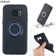 For Sansung Galaxy S7 Edge Case 3in1 Magnetic Suction Bracket Finger Ring Soft Phone Cases For Sansung Galaxy S8 Plus Case Cover