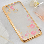 For VIVO X21 Case Silicone Bling Flower Diamond Clear Bumper Soft Back Shell Cover For VIVO X21 UD Fingerprinting Phone Cases