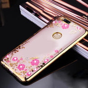 For Xiaomi Mi A1 Case Soft TPU Silicone Diamond Clear Flower Phone Cases For Xiaomi Mi 5X 5.5 Inch Back Cover For Xiao Mi5x