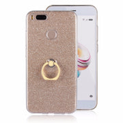 For Xiaomi Mi A1 Mi5X Case Flash Powder 3D Relief Phone Case For Xiaomi Mi A1 Mi5X TPU Silicone Soft Back Cover With Ring