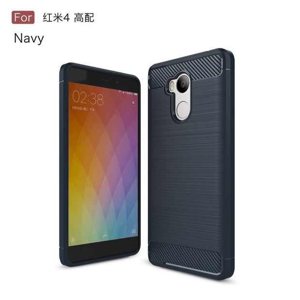 factory price 1a9ae 7a668 For Xiaomi Redmi 4S Case Cover Luxury Carbon Fiber Brushed Silicone Rubber  Case For Xiaomi Redmi 4S Cover Coque 5.0''
