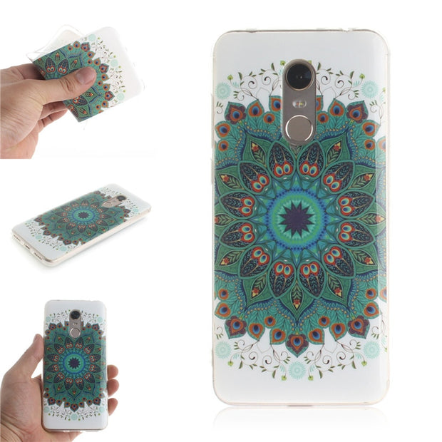For Xiaomi Redmi 5/Redmi 5 Plus/Redmi 6/Redmi 6A/Redmi 6 Pro/Redmi Note 5 Pro Case Cover Soft TPU+IMD Animal Bear Flower Pattern