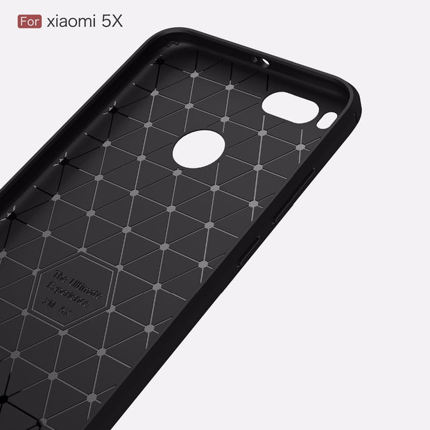 For Xiaomi Mi 5X Phone Case Cover For Xiaomi MI5X Mi 5 X Luxury Carbon Fiber Protective Back Cover Phone Cases For Xiaomi MI A1