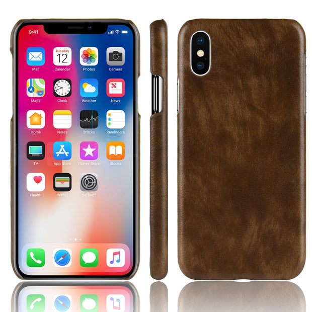 For IPhone 7 8 9 Plus Case Luxury PU Leather Hard Phone Case Cover For IPhone X 9 8 7 6 6S Phone Case Capa Coque Fundas