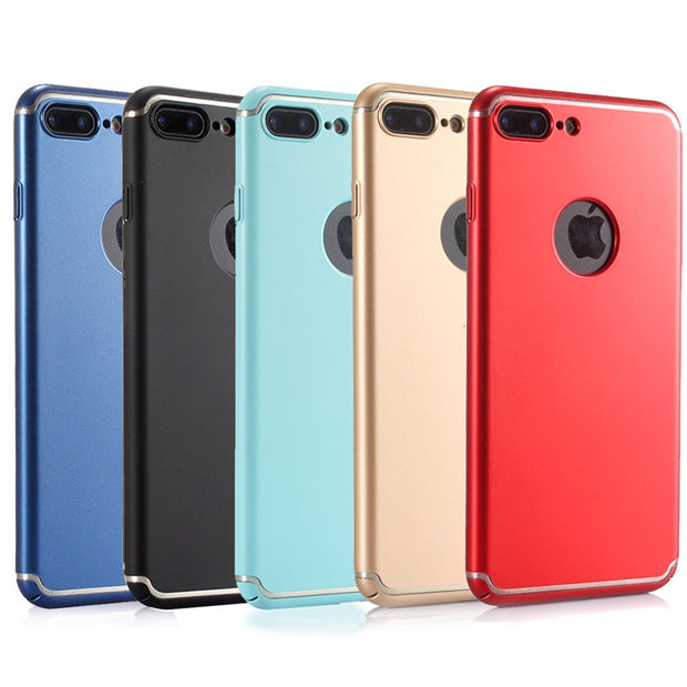 For IPhone6S 7 8 10 7Plus Slim Full Coverage Frvsimem Art Line Case Wire Case For IPhoneX 10 6P Fashion Colors Full Phone Cover