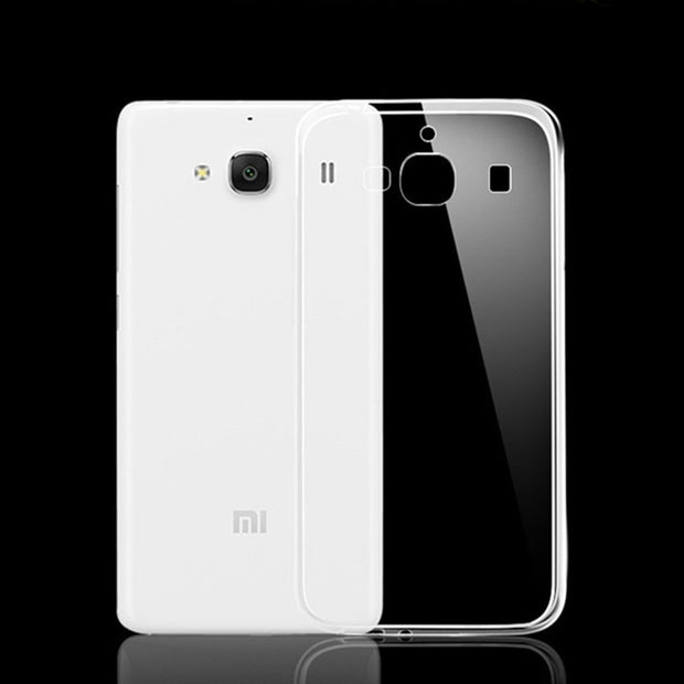 For Xiaomi Hongmi2 Case Cover 0.5mm Ultrathin Transparent TPU Soft Cover Protective Case For Xiaomi Redmi 2 Back Cover Bags