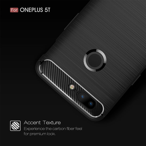 Forubest For Oneplus 5T Case Silicone Luxury Armor Cases For One Plus 5 T Oneplus 5T Brushed Silicon TPU Back Cover Shockproof