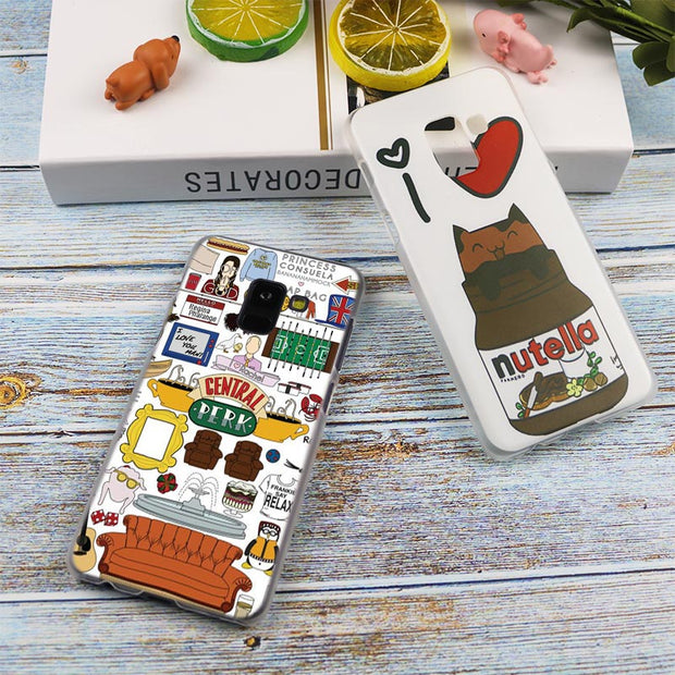 Friends Together Art Fashion Transparent Case For Samsung Galaxy A3 A5 A9 A7 A6 A8 Plus 2018 2017 2016 Star A6S Note 9 8 Cover