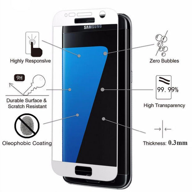 Full Cover Tempered Glass For Samsung Galaxy J7 J5 J3 2017 A5 A7 2016 S4 S5 S6 S7 C5 C7 Note 4 5 Screen Protector Toughened Film