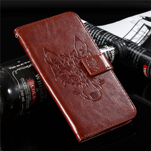 GUCOON Wolf Case For Samsung Galaxy Note9 Case Wallet Phone Cover For  Samsung Galaxy Note 9 Case Coque Holder Bag