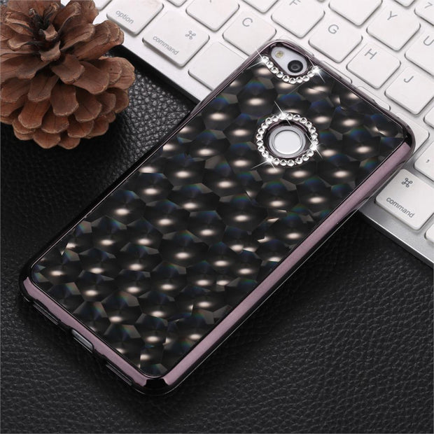 GerTong 4D Glitter Stone Flash Drill Cases For Huawei P10 P8 P9 Lite