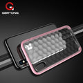 GerTong Clear Crystal Soft TPU Case For IPhone 6 6s 7 8 Plus Luxury Two-Color Drop Back Cover Shell For IPhone X