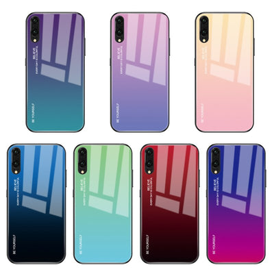 GerTong Colorful Tempered Glass Case For Huawei P30 P20 Lite P20 Pro Nova 4 3i 2i 3E Soft Edge Skin Cover Glass Slim Coque Funda