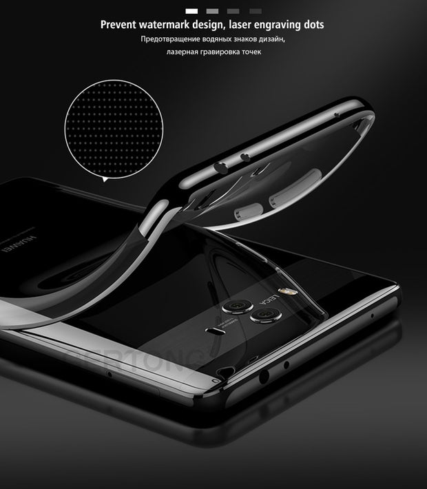 GerTong Luxury Plating Soft TPU Phone Case For Huawei Honor