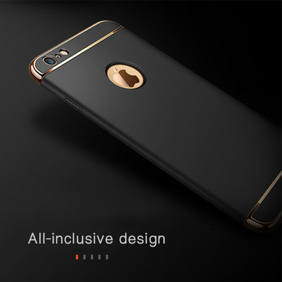 GerTong Plating Hard PC Case For IPhone 6s 6 S 7 Plus 5 5s SE Case For IPhone 8 Cover Case Luxury Phone Case For IPhone 7 Coque