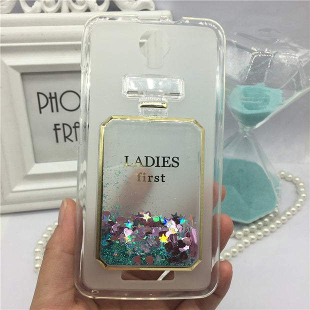 Girls Bling Glitter Liquid Phone Cases For Micromax Canvas
