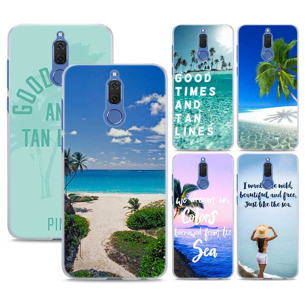 01c8c9fc711 Good Times Beach Quotes Pattern Transparent Phone Cover Fundas Coque For  Huawei Mate 10 Lite 9