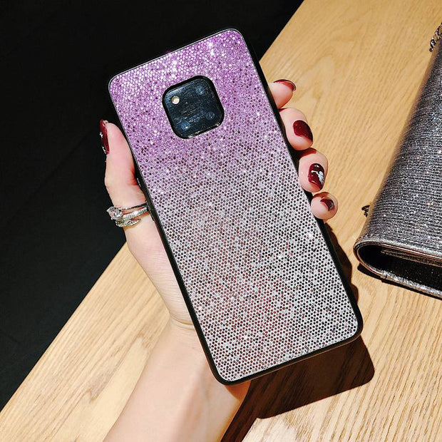 Gradient Bling Case For Huawei P20 Mate20 Lite Pro P10 Plus Soft Cover For Huawei Honor 10 V10 V9 8X Huawei 8C 7A Nova 3 3i 2s