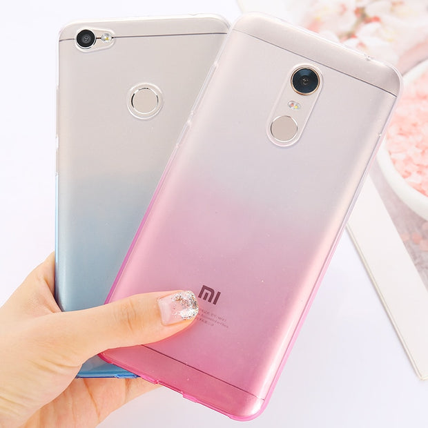 Gradient TPU Case For Xiaomi Mi A1 5X 6X Mi8 5S 5C Mix 2S Soft Cover For Xiaomi Redmi 6 6A 4A Note 4 Pro 4X 5A 5 Plus Redmi S2