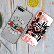 Guns N' Roses Hot Fashion Transparent Hard Phone Cover Case For IPhone X XS Max XR 8 7 6 6s Plus 5 SE 5C 4 4S