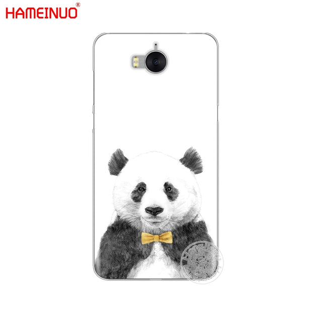 HAMEINUO Lovely Cute Panda Chinese Cell Phone Cover Case For Huawei