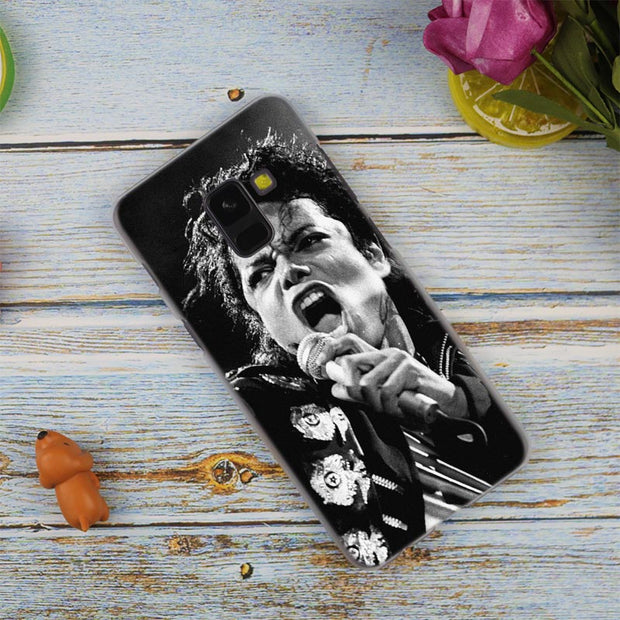 Handsome Star Michael Jackson Transparent Case For Samsung Galaxy A3 A5 A9 A7 A6 A8 Plus 2018 2017 2016 Star A6S Note 9 8 Cover