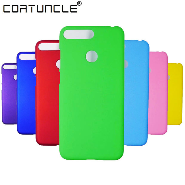 Hard Plastic Case On For Coque Huawei Honor 7A Pro Case Candy Color Cover SFor Huawei Y6 2018 Cover Y6 Prime 2018 Phone Case
