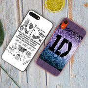 Harry One Direction Tattoos ID Styles Hot Fashion Transparent Hard Phone Cover Case For IPhone X XS Max XR 8 7 6 6s Plus 5 SE 4