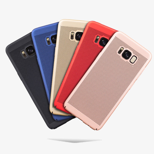 Heat Dissipation Case For Samsung Galaxy S7 Edge S8 S9 Plus S6 A5 A7 A3 2017 A8 Plus 2018 Note 8 Hard PC Protective Back Cover