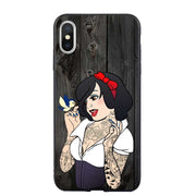 Henna Tattoos Princess Jasmine Snow White Punk Belle Soft Silicone TPU For IPhone 5 5S SE X XR XS MAX 6 6s Plus 7 7Plus 8 8 Plus